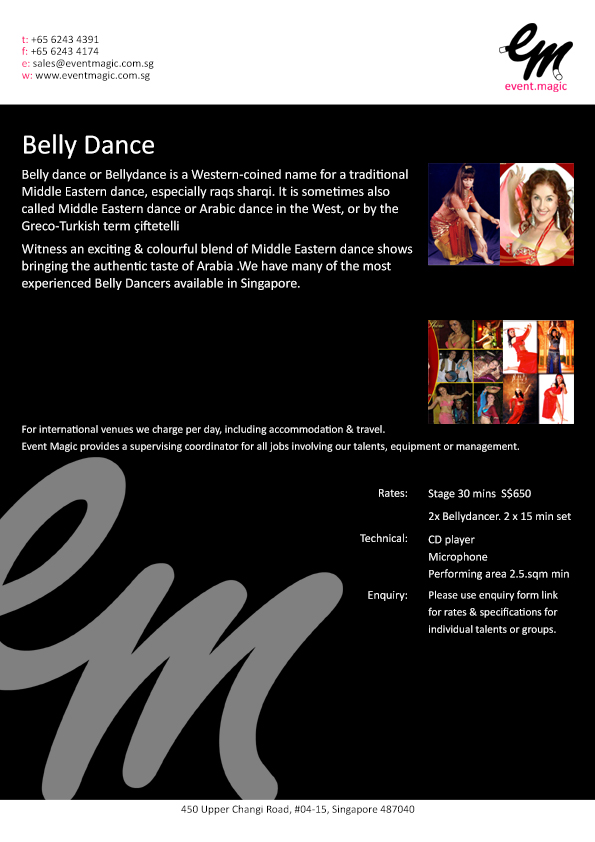 Belly Dancer for Hire Singapore, Belly dancers Singapore, Belly Dance Show, eventmagic.com.sg Belly Dance