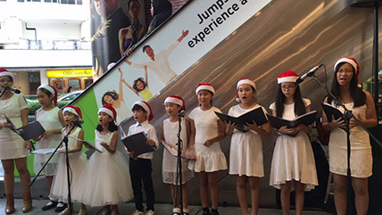 Christmas Children's Choir Carolers, Christmas carolers for hire in singapore christmas