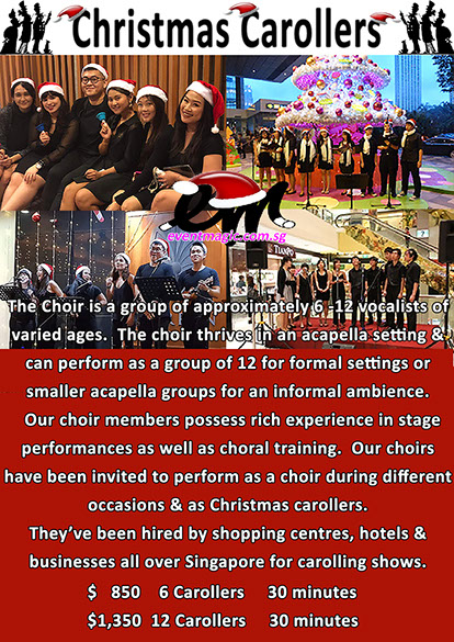 Caroll Singers, Toy Soldiers, Bell Ringing, Christmas Performers for hire