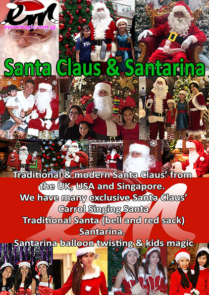 Santa Claus, Caroll Singers, Toy Soldiers, Bell Ringing, Christmas Performers for hire